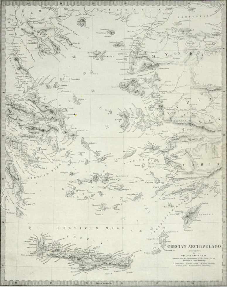 Χάρτης Ελλάδας AIGAIO 1843 Ο χάρτης είναι από τη σελίδα του Ελληνικού Πολεμικού Ναυτικού